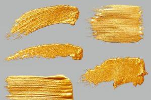 Kultainen akryylimaali
